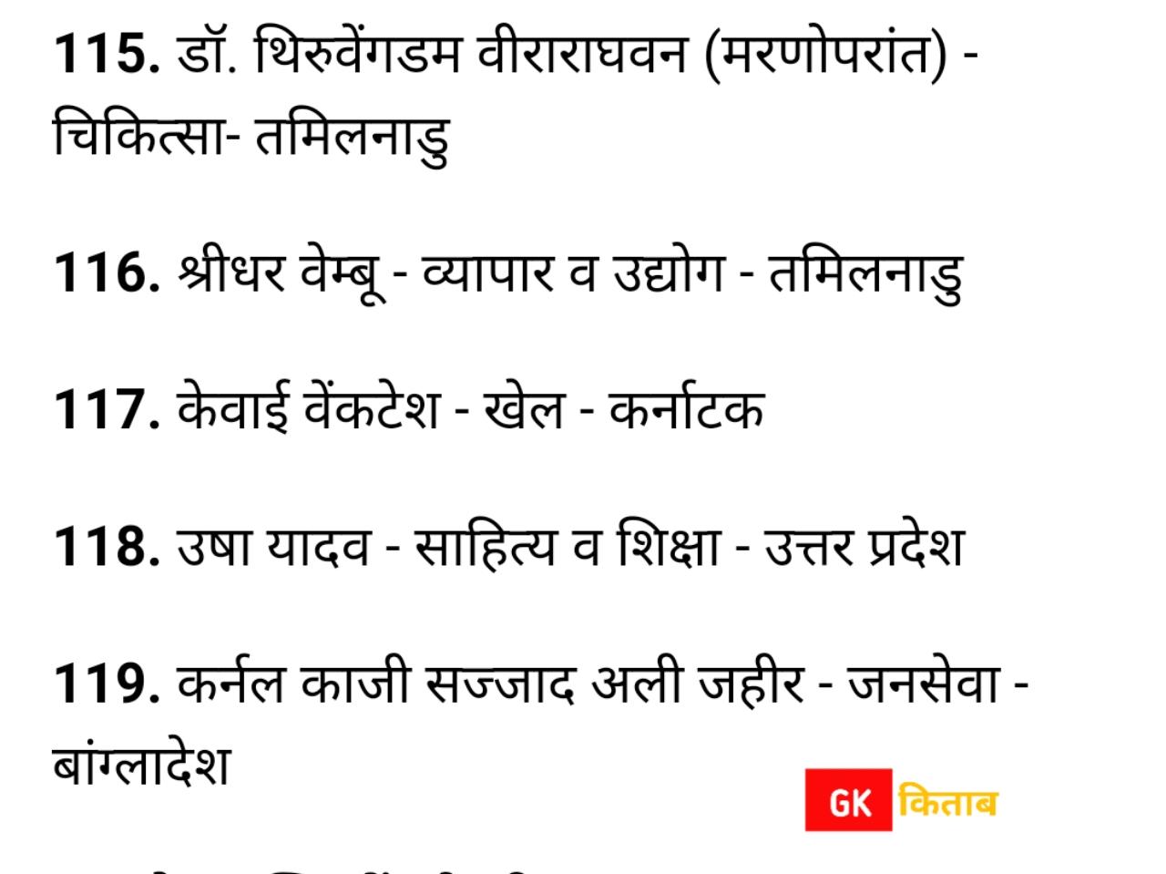 Padma award list 2021 in Hindi